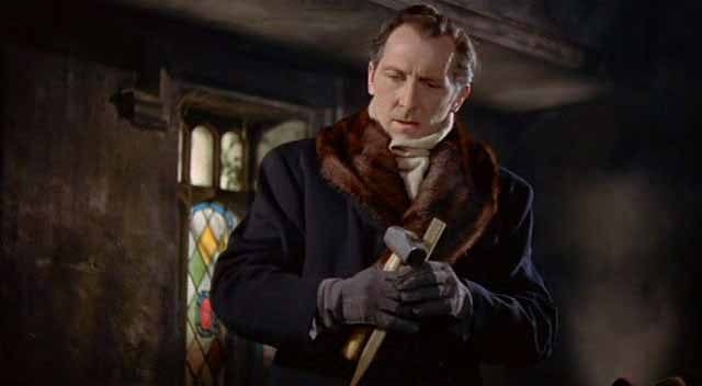 The legendary Peter Cushing as vampire-hunter Dr. Van Helsing.
