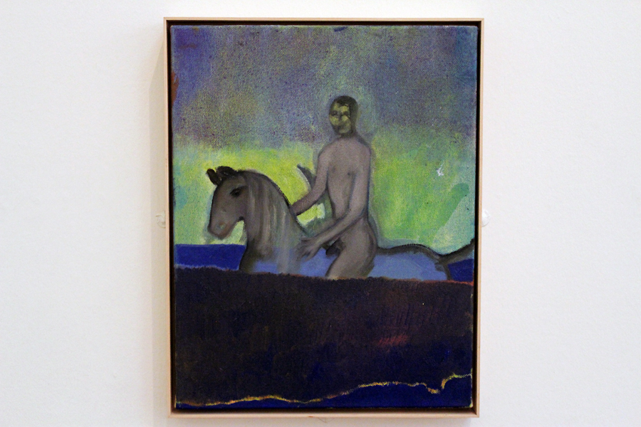 Riding in Water by Peter Doig. Oil on canvas, 2012.