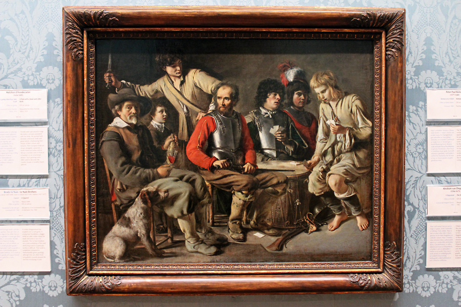 'A Quarrel' by the Le Nain brothers. This Dutch influenced painting portrays a group of soldiers quarrelling over a card game.