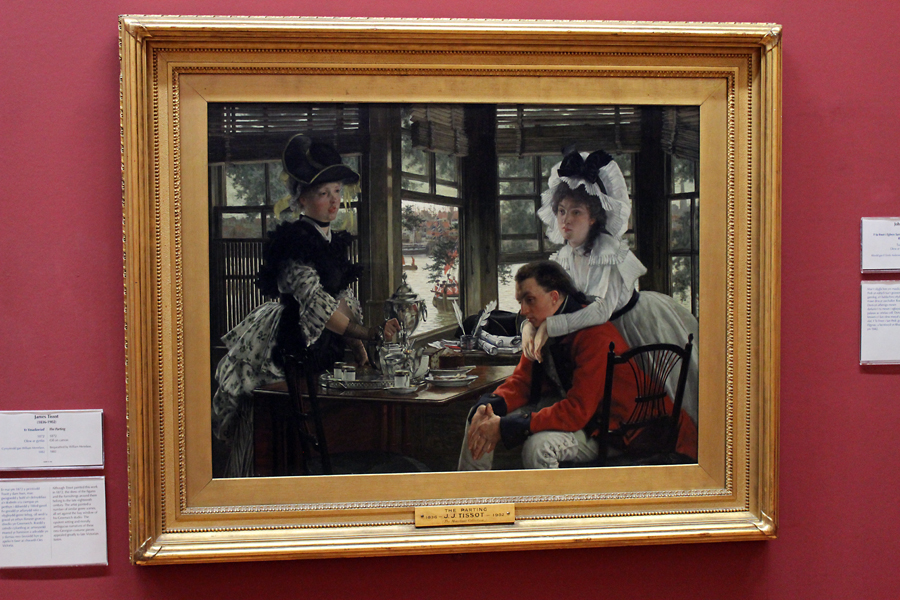 This is one of my favourite paintings in the gallery. 'The Parting' by James Tissot (1872) shows the artists mastery of composition and natural talent for realism and detail.