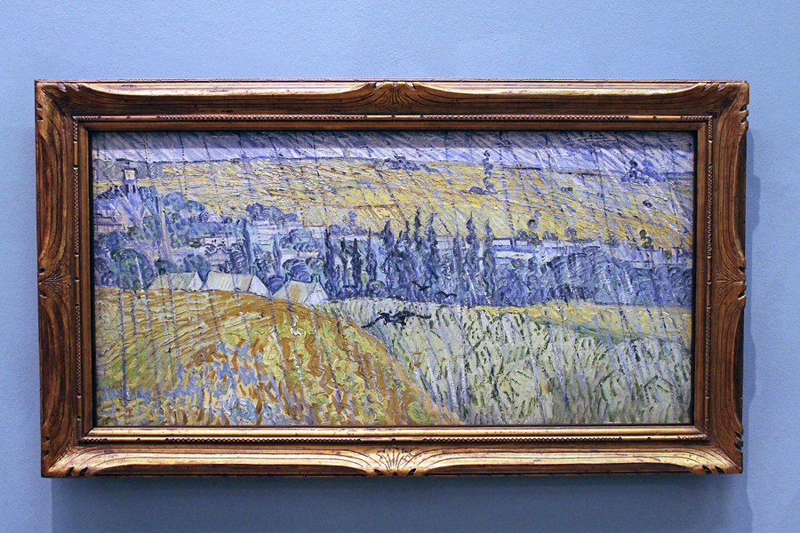'Rain, Auvers' by the master, Vincent Van Gogh. 1890.
