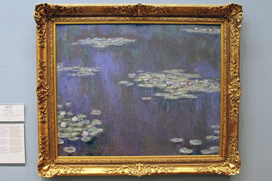 One of Claude Monet's 'Waterlilies' paintings. This one is dated 1905.
