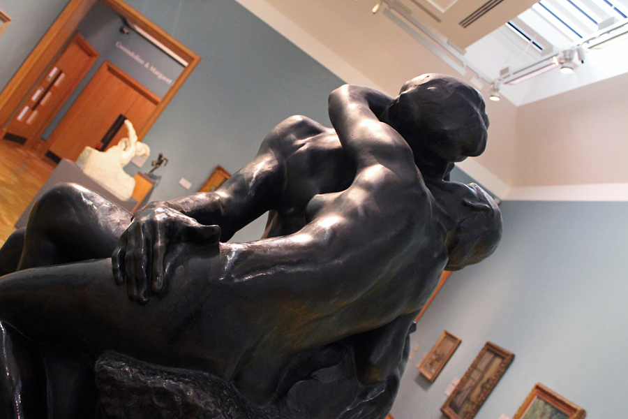 One of Auguste Rodin's famous sculptures of 'The Kiss' Apparently this version is second only to one on display in the Louvre in Paris.