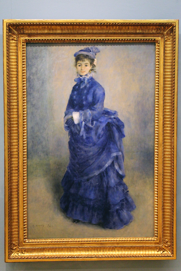 Pierre August Renoir's giant portrait entitled 'La Parissiene'. Oil on canvas, 1874.