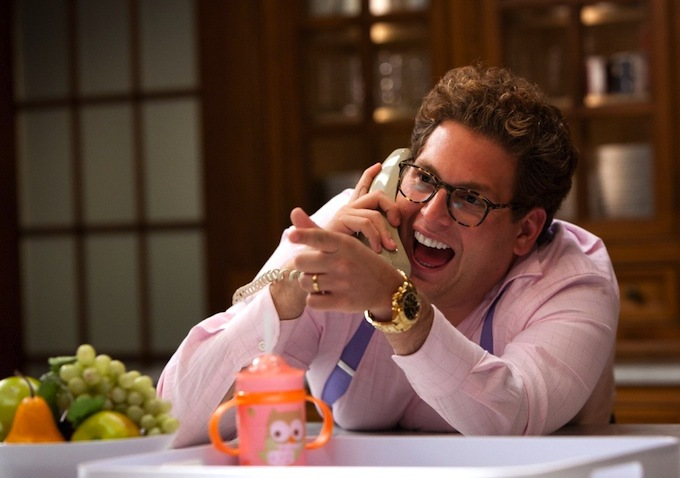 Jonah Hill as crazy Belfort disciple Donnie Azoff.
