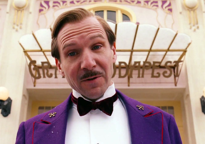 Ralph Fiennes as the hilarious Hotel Concierge, M. Gustave.