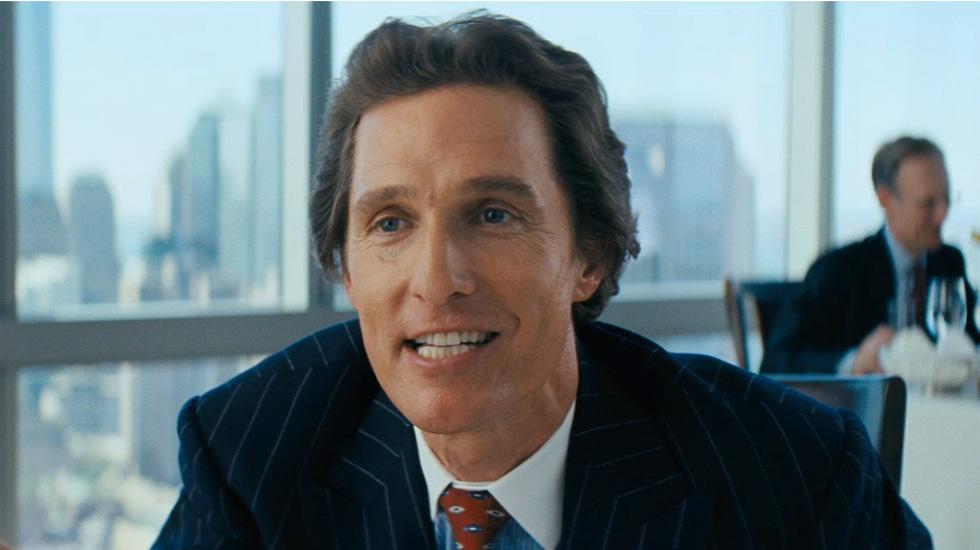 Oscar winning Best Actor Matthew McConaughey in a hilarious performance as Belfort's boss Mark Hanna.