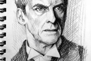 Art by nitefise - http://www.deviantart.com/art/sketch-Peter-Capaldi-478007841