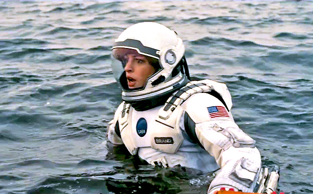 Anne Hathaway plays Amelia; a cool headed scientist who is hoping to find her lost love on one of the planets.